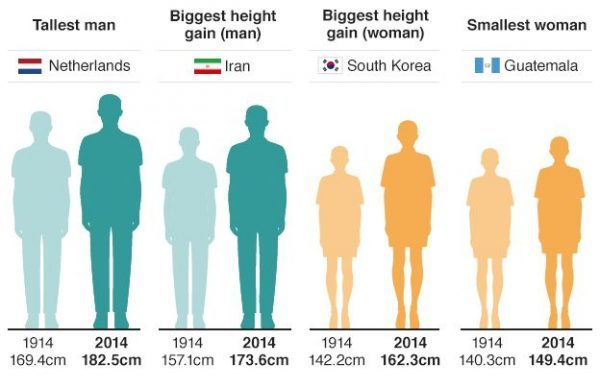 Top Interesting Height Statistics From Around the World